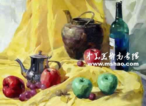 西安美术学院优秀色彩试卷(4)_中华美术高考网