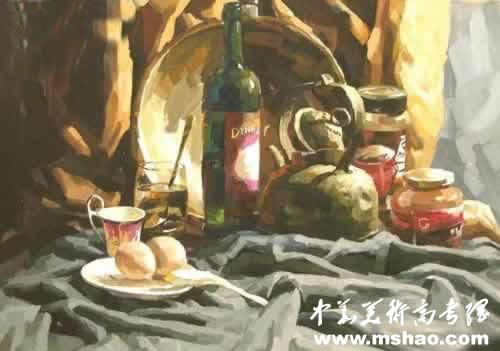 西安美术学院优秀色彩试卷(3)_中华美术高考网