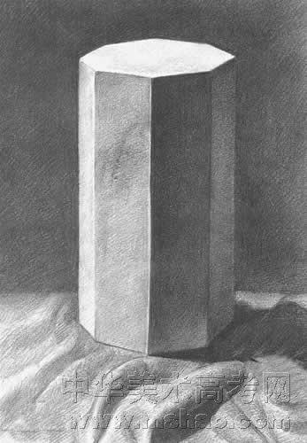 画好组合石膏几何体素描的技巧与方法