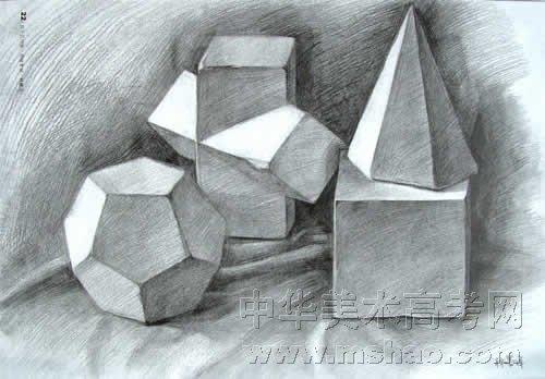 几何石膏体素描 单个五官石膏体素描 几何石膏组合素描