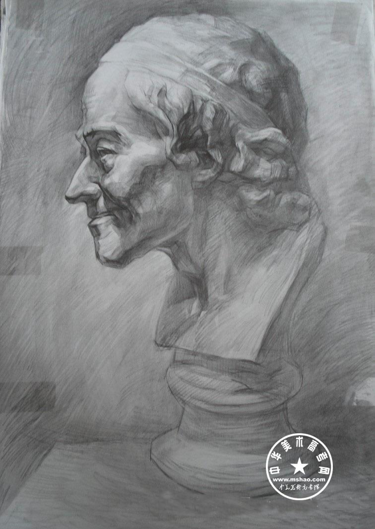 素描石膏像中央美院素描石膏像石膏像结构素描