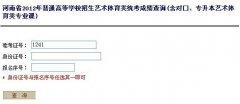 2012年河南艺术统考成绩查询网址
